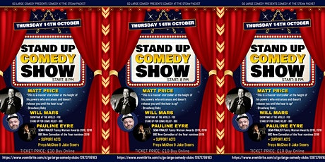 GO LARGE COMEDY AT THE STEAM PACKET tickets