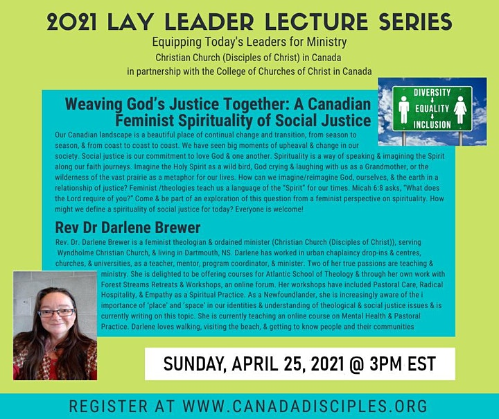 2021 Lay Leader Lecture Series  4: Weaving God's Justice Together image