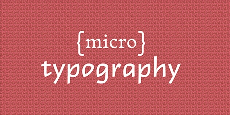 Micro Typography  with Amy Papaelias tickets