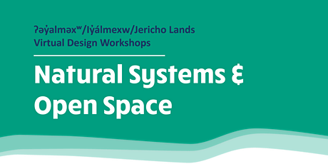Jericho Lands Virtual Design Workshops: Natural Systems and Open Space tickets
