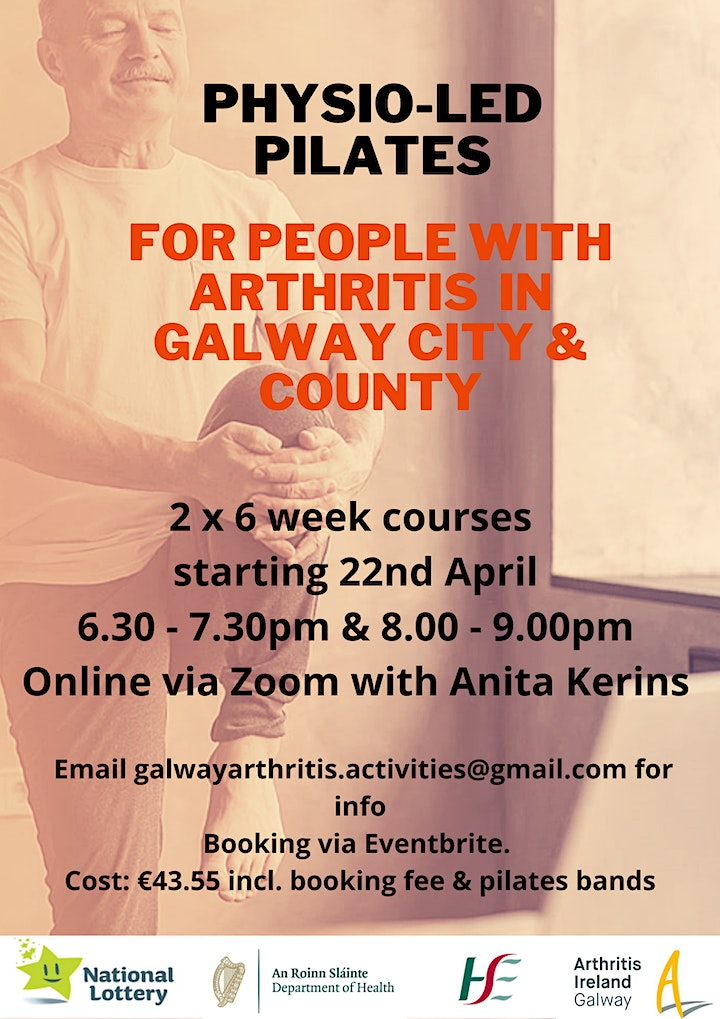 6 week Online Physio-Led Pilates for People with Arthritis in Galway image