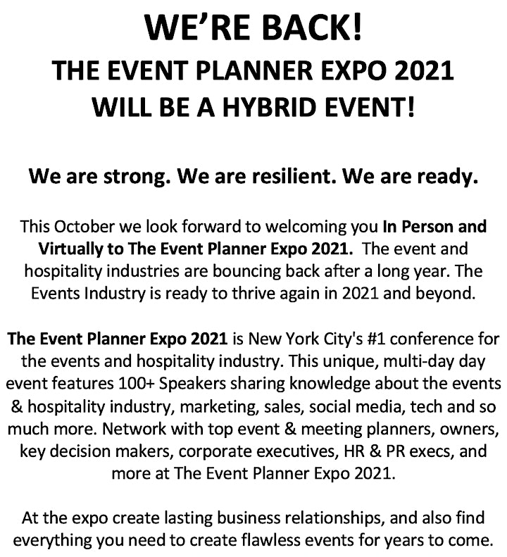 The Event Planner Expo 2021 image