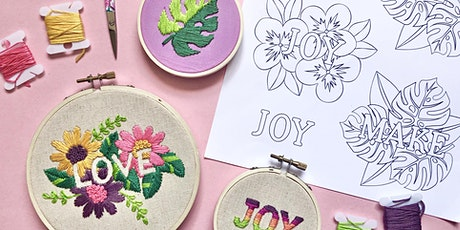 Negative Space Embroidery tickets
