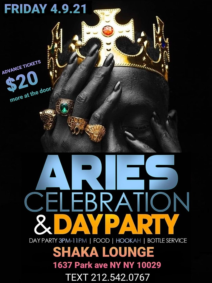 4.9.21 5TH ANNUAL ARIES CELEBRATION & DAY PARTY image