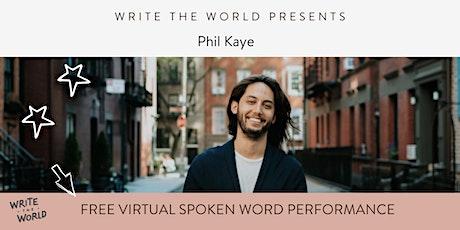 Spoken Word Poetry Performance: Phil Kaye tickets