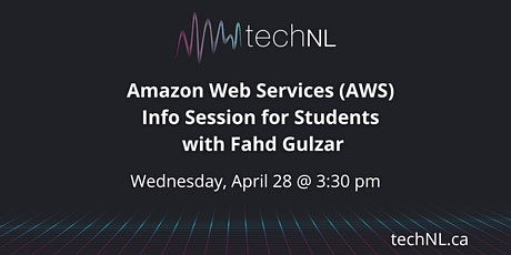 Amazon Web Services Info Session for Students with Fahd Gulzar entradas