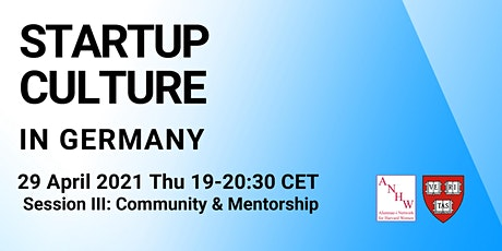 Start-Up Culture in Germany: Community & Mentorship tickets