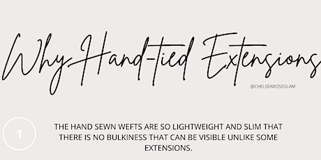 HAND TIED EXTENSION CLASS tickets