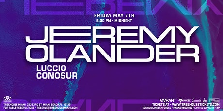 Jeremy Olander @ Treehouse Miami tickets