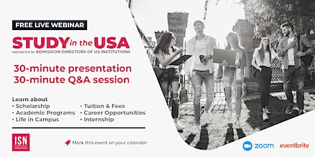 Study in the USA Webinar for Latin America & the Caribbean tickets