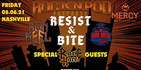 ROCKNPOD Preparty: Resist & Bite, Rare Hare Jam, Ron Keel, and Rock United tickets