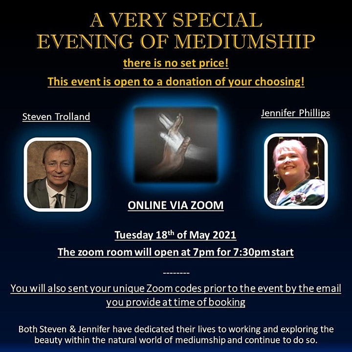 A Special Evening Of Mediumship With  Jennifer Phillips & Steven Trolland image