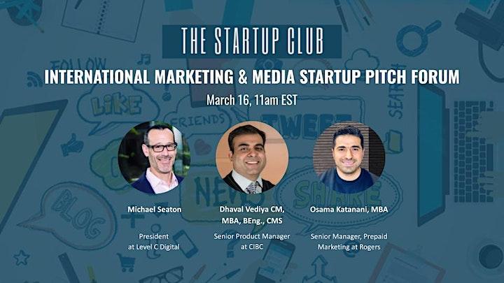 International Marketing & Media Startup Pitch Forum II image