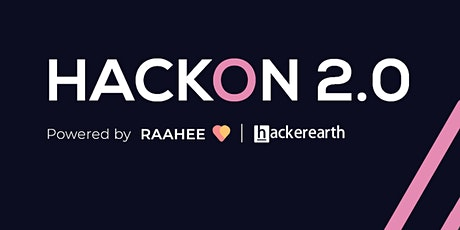 HackOn 2.0 Hackathon Tickets