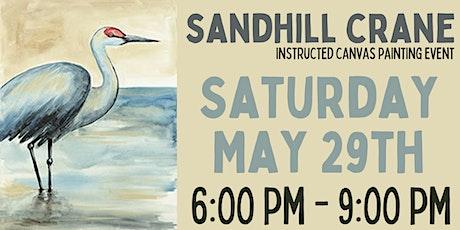 Sandhill Crane Canvas Painting Event tickets