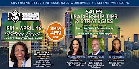 Vice President Panel: Sales Leadership Tips & Strategies tickets