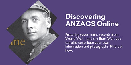 Discovering ANZACS Online @ Kingston Library tickets