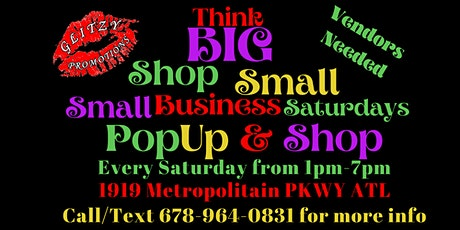 Small Business Saturdays Think Big Shop Small PopUp Shop tickets