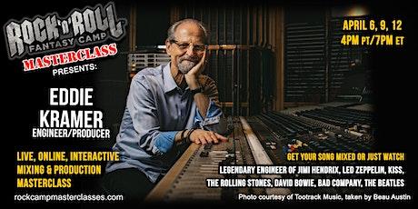 Mixing Masterclass with Eddie Kramer! tickets