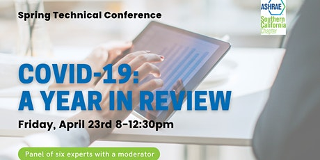 "Virtual Spring Technical Conference: ""COVID-19: A Year in Review"" tickets"
