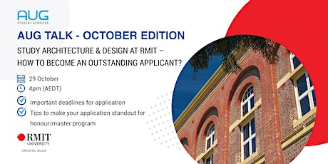 [AUG Talk] Study Architecture and Design with RMIT University tickets