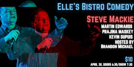 Elle's Bisto Comedy: Steve Mackie tickets