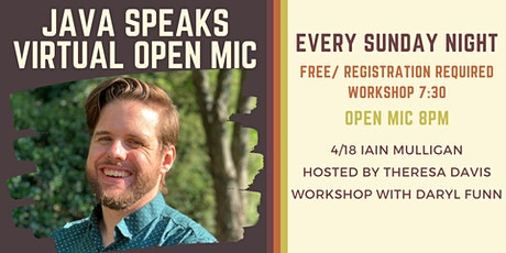 Java Speaks Virtual Open Mic featuring Iain Mulligan tickets