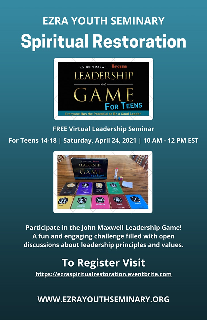 The Leadership Game for Teens:  Spiritual Restoration image