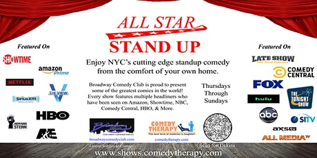 Broadway Comedy Club - All Star Stand Up - April 30th tickets