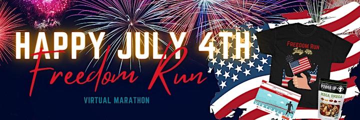July 4th Freedom Virtual Run image