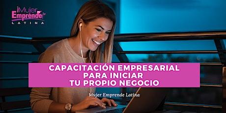 Programa de Capacitación Empresarial para Iniciar tu Propio Negocio II entradas