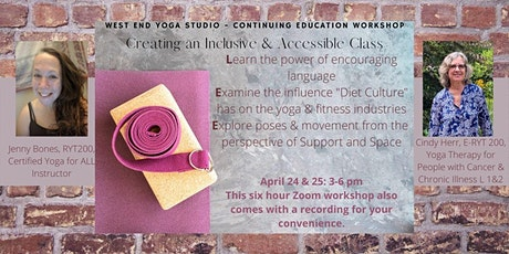 Creating an Inclusive  Accessible Yoga Class tickets