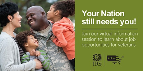 Internal Revenue Service Careers – Virtual Information Session for Veterans tickets