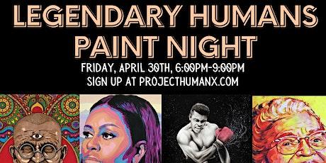 Legendary Humans Paint Night tickets