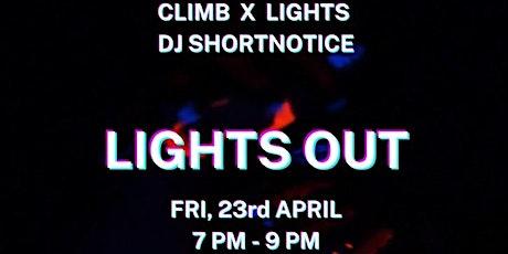 LIGHTS OUT Rock Climbing at NBRH / SOCIAL NIGHT tickets