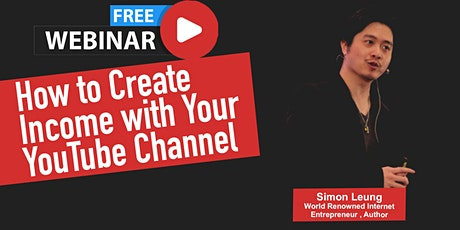 Online Webinar: How to Create Income with Your YouTube Channel tickets