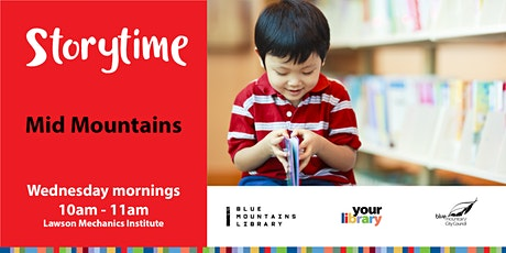Mid Mountains Storytime Wednesday 26th May 2021 tickets