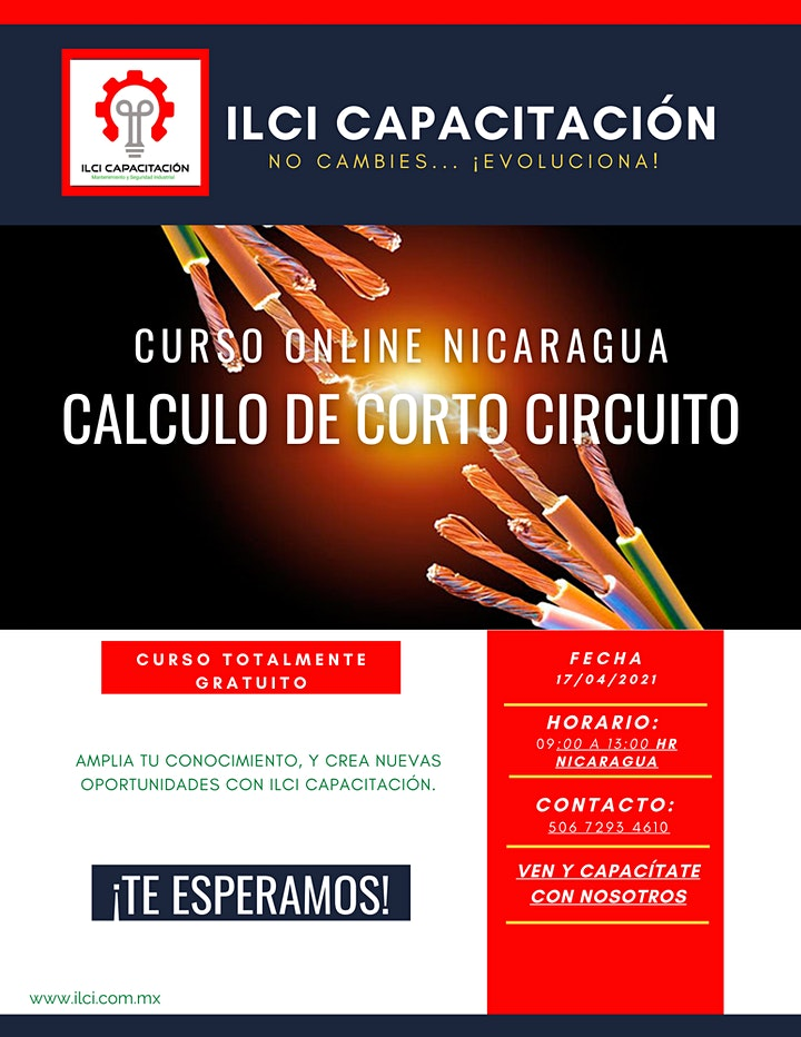 """Imagen de Curso Gratuito Nicaragua """"Cálculo de Corto Circuito"""""""
