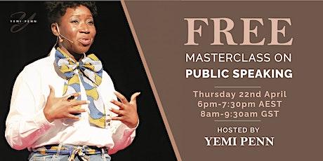 Public Speaking - Masterclass tickets