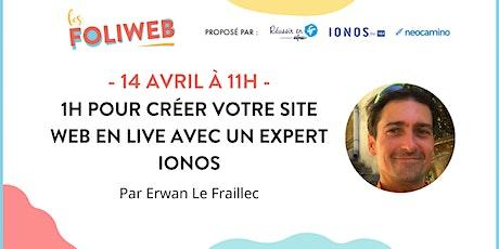 1h pour créer votre site web en live avec un expert IONOS tickets