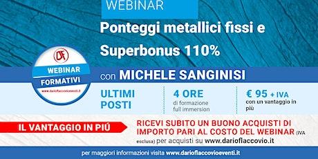 WEBINAR: Ponteggi metallici fissi e Superbonus 110% biglietti
