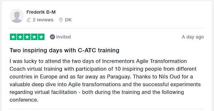 Incrementor | Certified Agile Transformation Coach I (C-ATC I) image