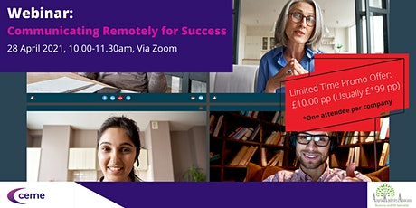 Communicating Remotely for Success tickets