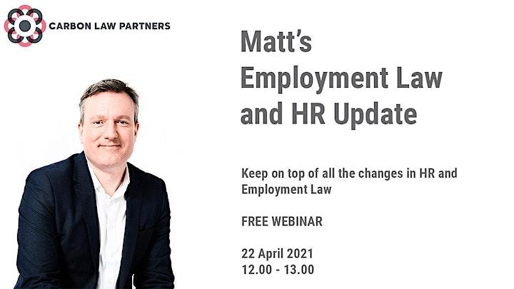 Matt's Employment Law Update: April 2021 image