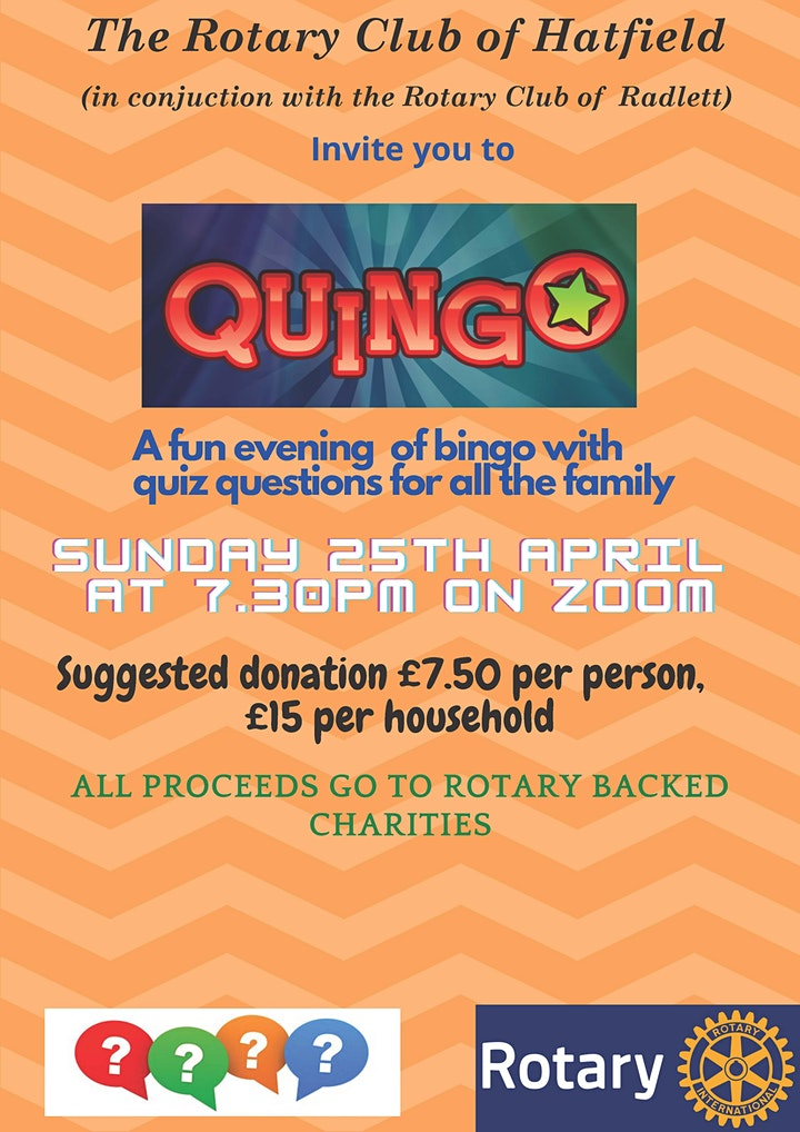Hatfield Rotary Quingo The Fun Quiz Anyone Can Win image