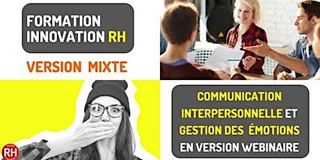 Formation - Communication interpersonnelle et gestion des émotions billets