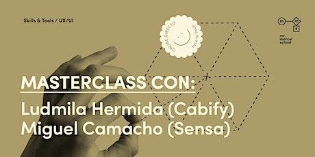 Masterclass UX/UI  con Miguel Camacho y Ludmila Hermida entradas