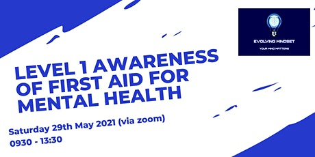 Level 1 Award in Awareness of First Aid for Mental Health (RQF) tickets