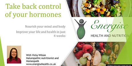 Take back control of your hormones and body with nutrition tickets