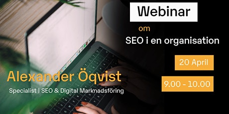 Webinar - SEO i en organisation tickets